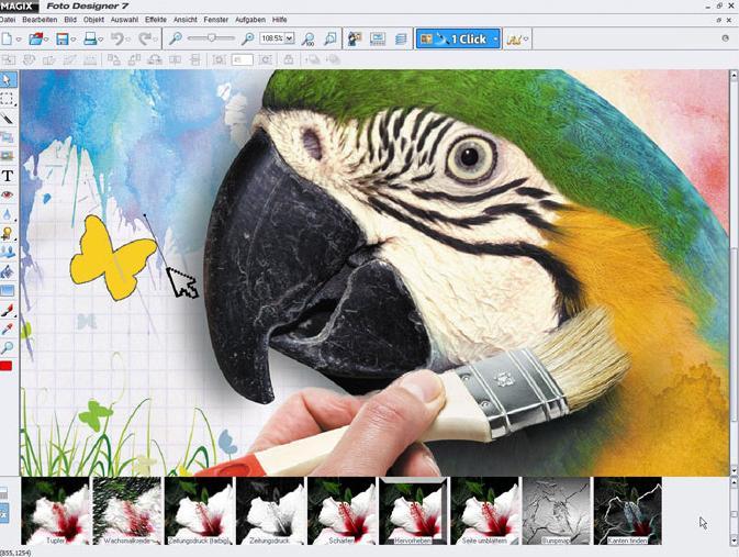 Screenshot vom Programm: MAGIX Foto Designer