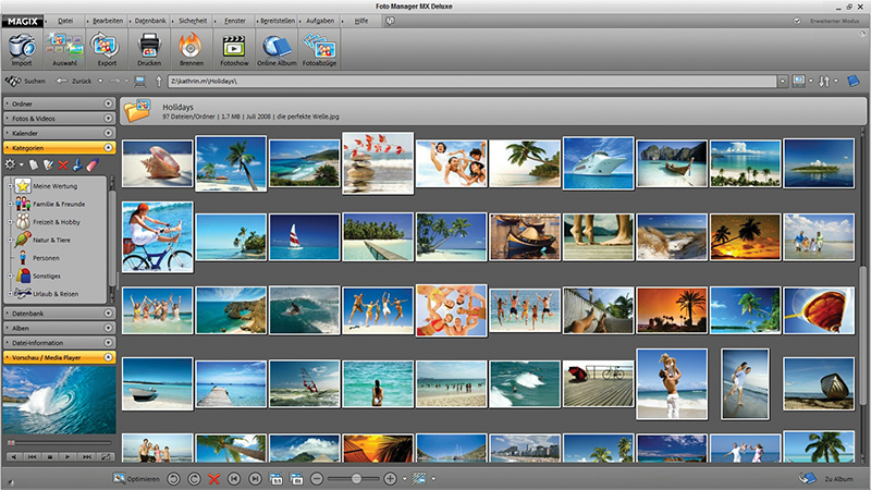 Screenshot vom Programm: MAGIX Foto Manager deluxe