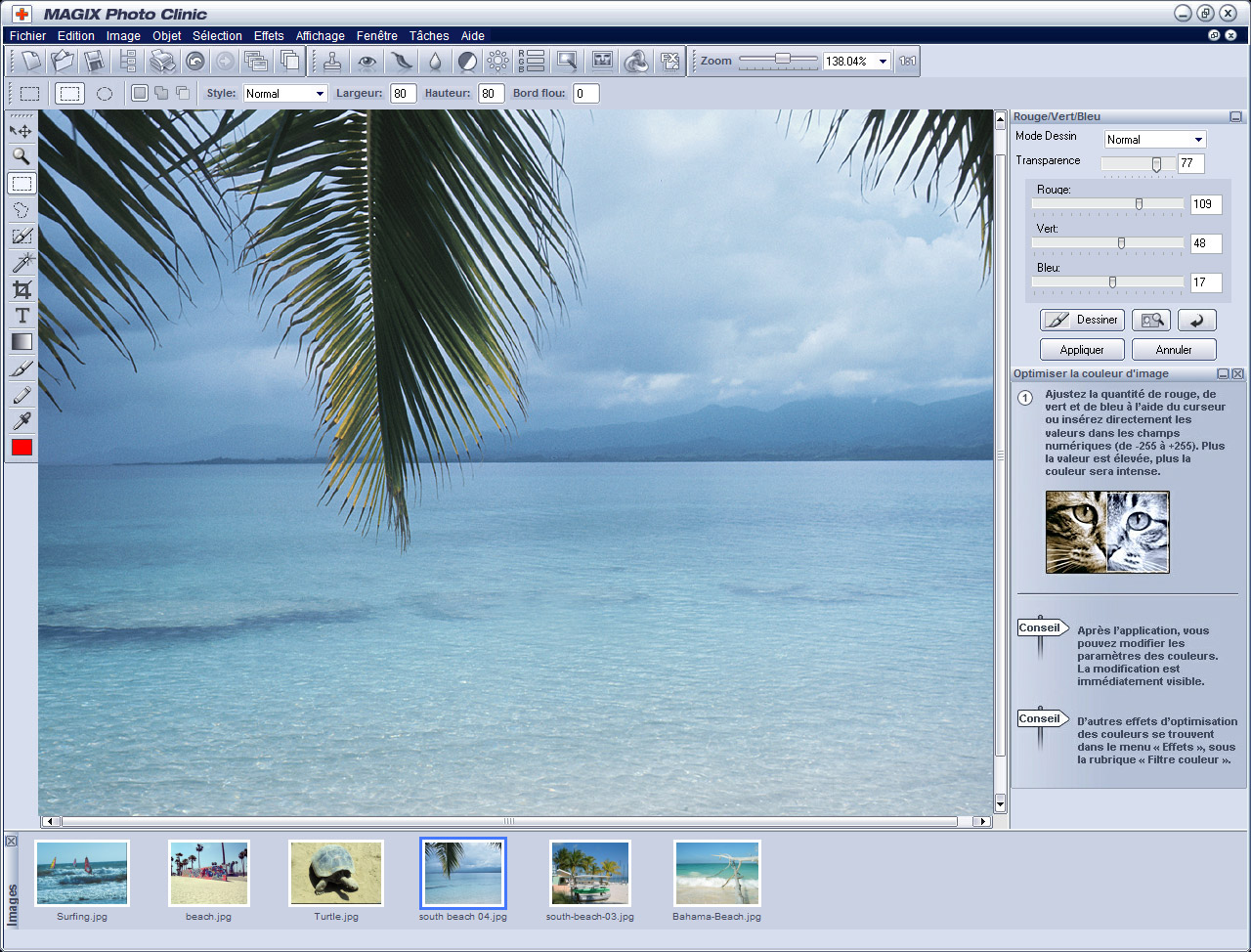 MAGIX Photo Clinic gratuit  capture d`écran