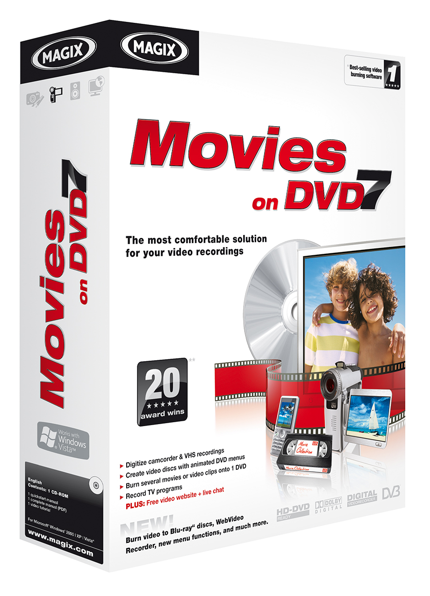 MAGIX Movies on DVD 7 Download version