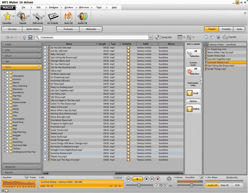 MAGIX MP3 Maker deluxe 14