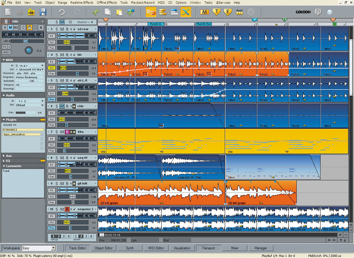MAGIX Samplitude Music Studio 14 Full Screenshot